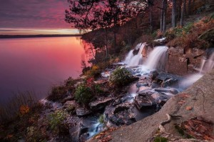 paisaje en cascada