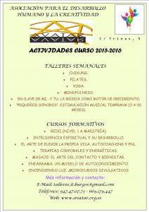 Cartel resumen de oferta cursos avatar 2015-16